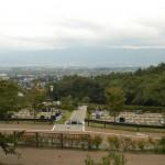最上部東屋から松本市を望む